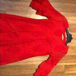 Red loose fitting dress